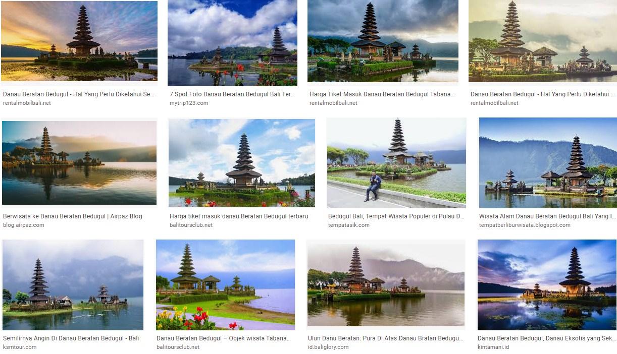 Tempat Wisata Danau Beratan Bedugul Bali
