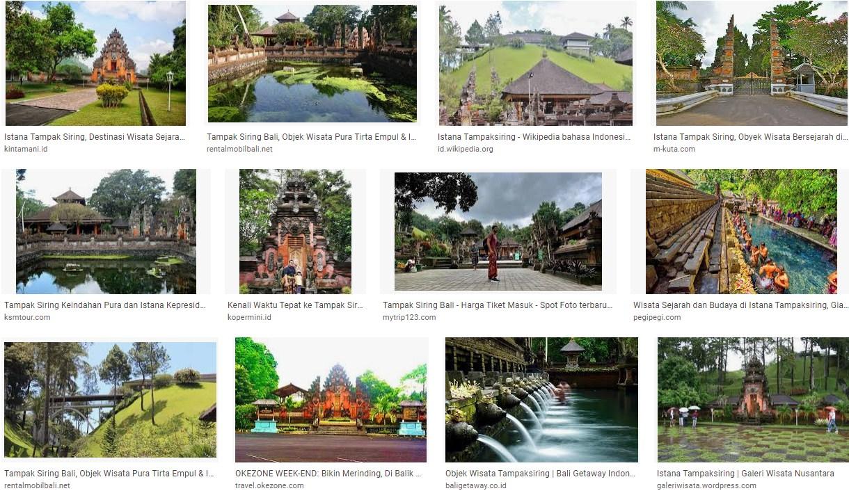 Tempat Wisata Istana Tampak Siring Bali
