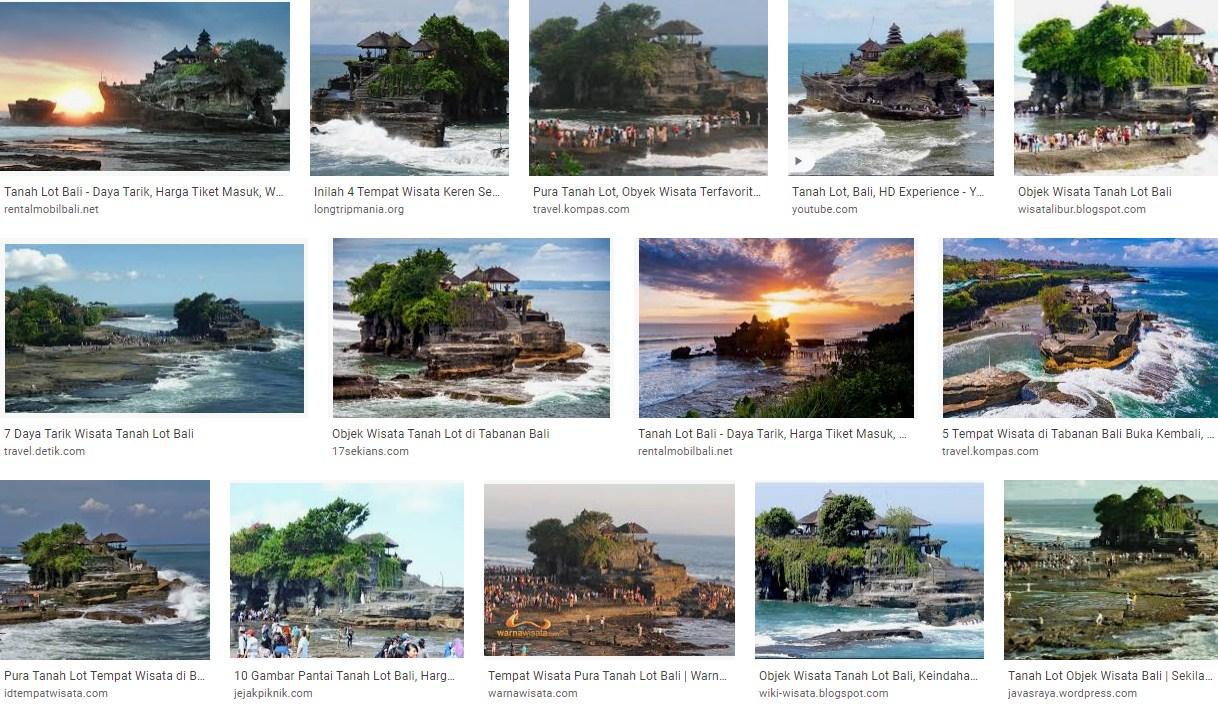 Tempat Wisata Tanah Lot Bali