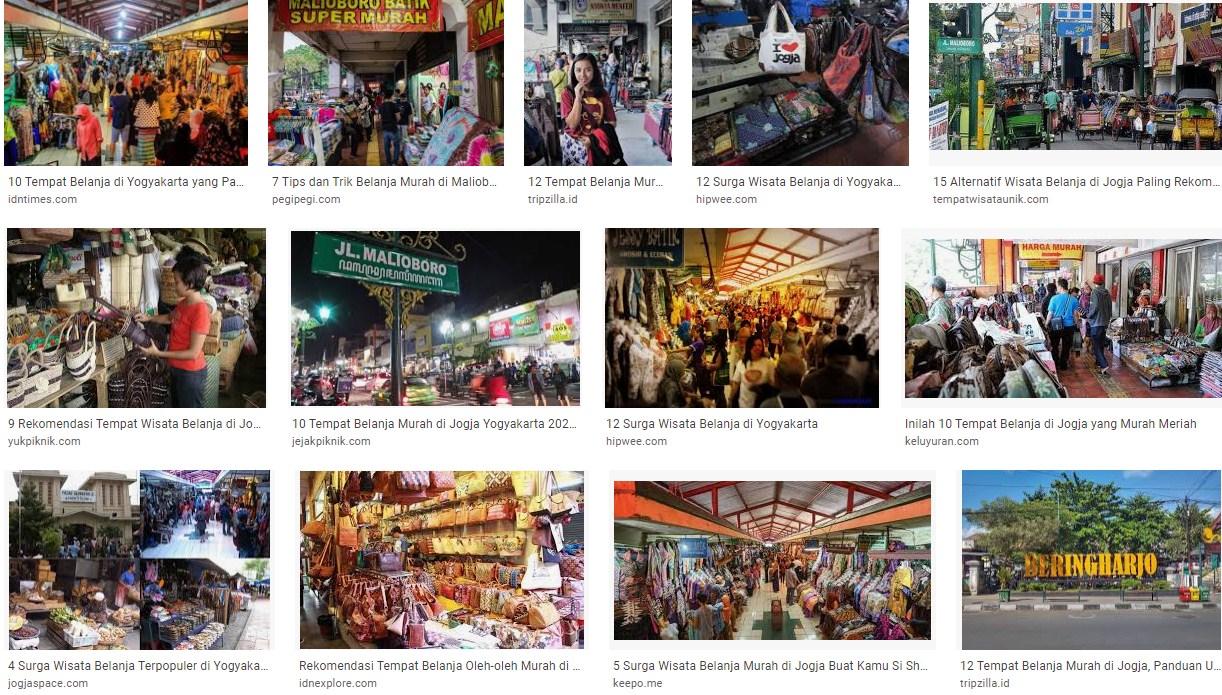 Wisata belanja Malioboro Yogyakarta