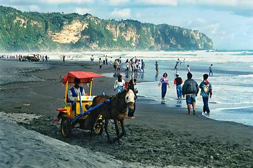 Pantai Parang Tritis Wisata alam di Yogyakarta
