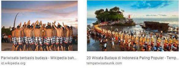 Tarian adalah salah satu atraksi wisata hasil karya cipta manusia