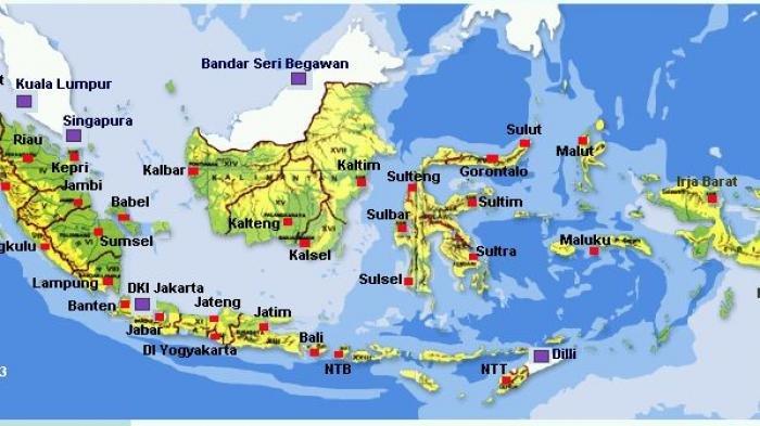 Inilah 35 Nama Provinsi dan Ibukota di Indonesia