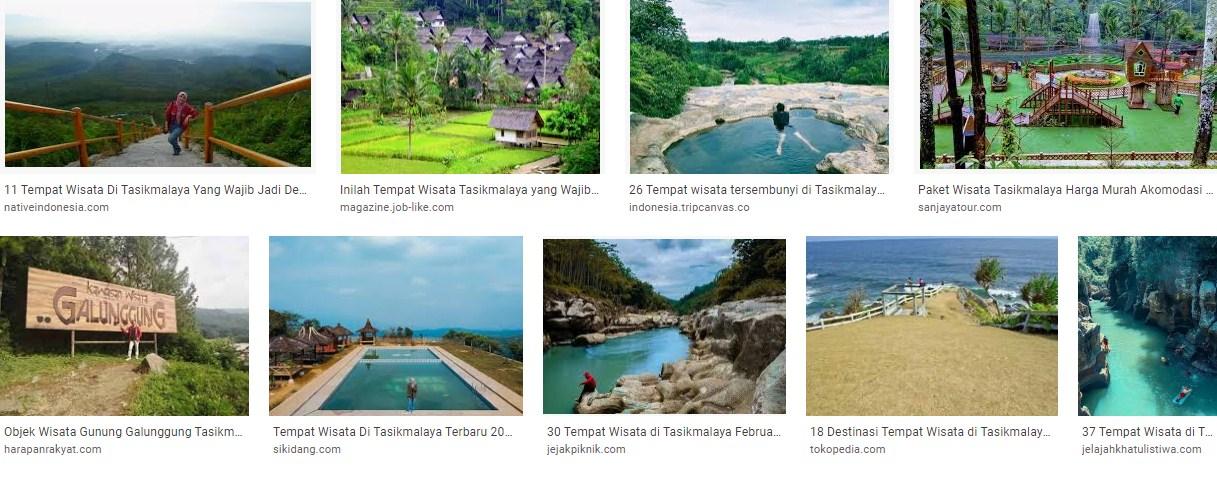 Daftar lokasi wisata di kota Tasikmaya