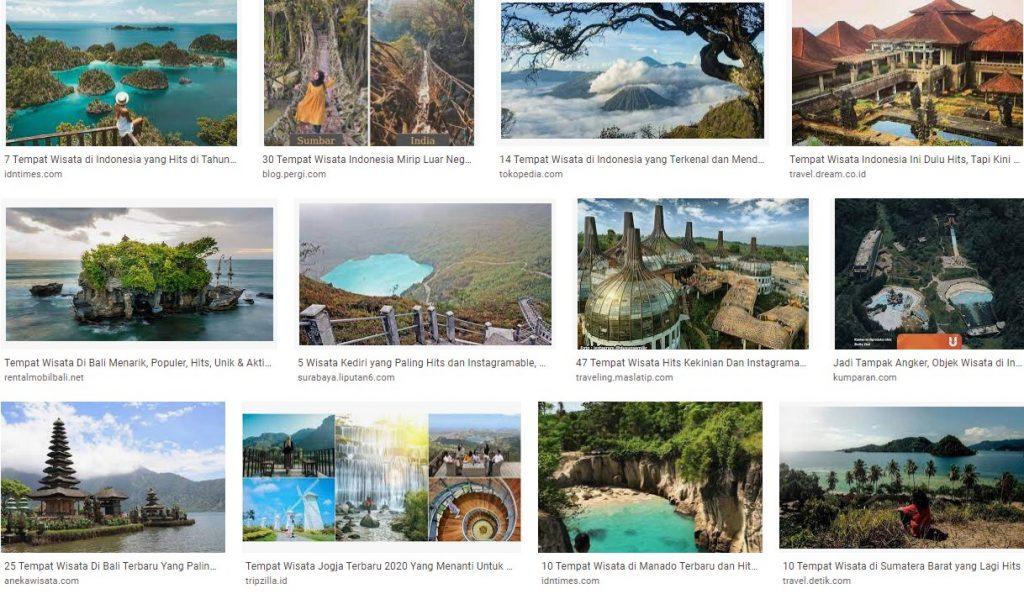 Tempat dan Obyek Wisata Indonesia yang Hits