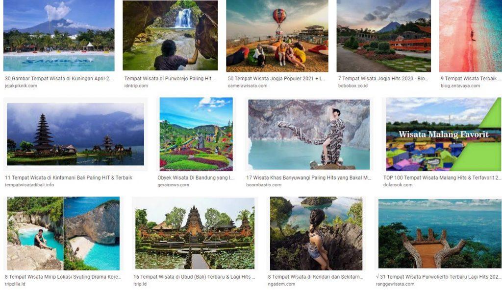 Tempat dan Obyek Wisata Indonesia yang Hits dan Istagramable