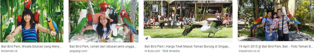Where is the location of bali bird park