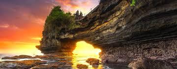 Pesona Sunset Keindahan Tanah Lot di Bali (Liburan Bali)