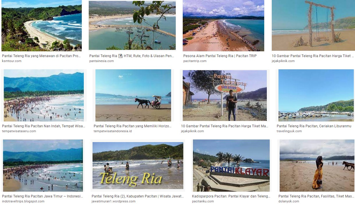 Wisata Pantai Teleng Ria Kabupaten Pacitan, Jawa Timur