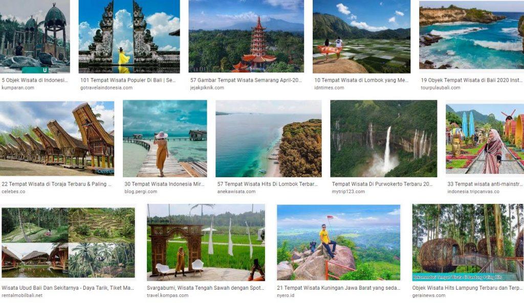 Tempat dan Lokasi Wisata Indonesia yang Hits dan Indah