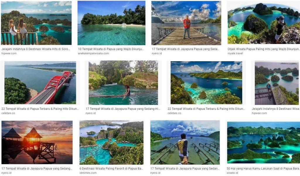 Tempat dan Obyek Wisata Papua yang Hits